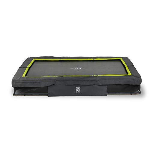 EXIT Silhouette Bodentrampolin 244x366cm - schwarz