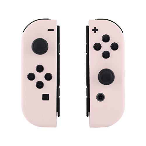 eXtremeRate NS Hülle Gehäuse Case Cover Schale Schutzhülle Tasche Kit für Nintendo Switch Joycon Controller mit vollständige Tasten(Sakura-Rosa)-Keine Console Hülle