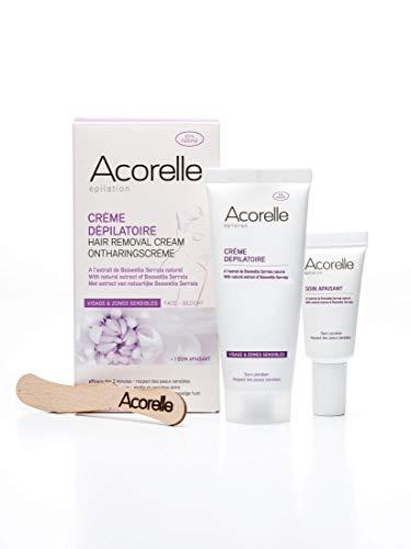 Acorelle Enthaarungscreme für Gesicht und empfindliche Zonen, 75 ml