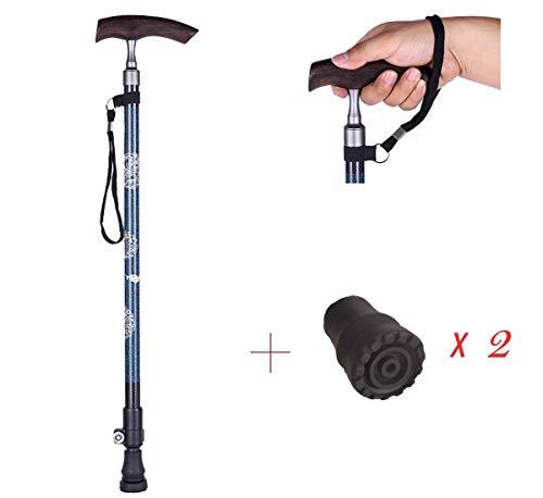 HHXX opvouwbare gekleurde wandelstok, licht verstelbare wandelstok, balans en mobiliteit hulp
