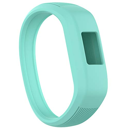 Meifox Compatible with Garmin vivofit JR Bands for Kids,Solf Silicone Replacement Band with Garmin Vivofit JR/Vivofit JR 2 / Vivofit 3 (Teal, Large)
