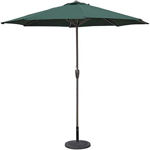 XNJJ Paraguas Parasol, de 9 Pulgadas al Aire Libre Protección Terraza Paraguas, sombrillas for la Tabla de jardín Piscina Cubierta Mercado (Tres Colores) 9.7 (Color : Green, Size : Ft/270cm)