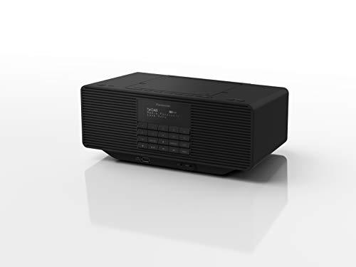 Panasonic RX-D70BTEG-K Digitalradio mit CD (DAB+, Stereo Klang, Bluetooth, UKW, Netz- & Batteriebetrieb, AUX, Weckfunktion), Schwarz