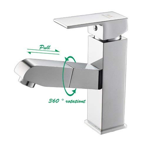 Trek Type Alle Enkele Gat Brons Hete en Koude Basin Verstelbare Shampoo Mini Spray 360 Graden Draaien Tap Mixer Kraan