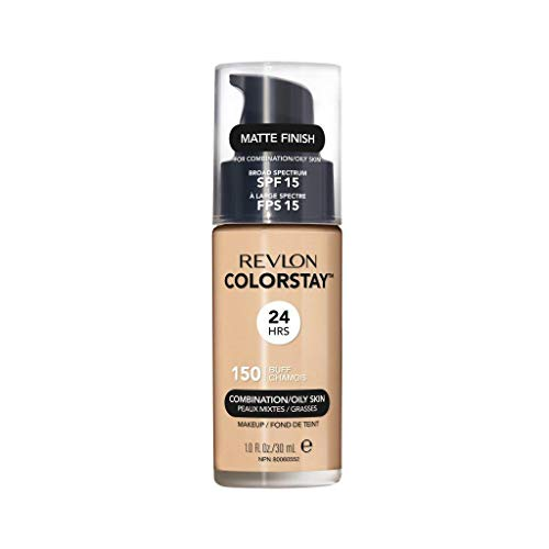 Price comparison product image Revlon ColorStay Liquid Foundation Makeup for Combination / Oily Skin SPF 15,  Longwear Medium-Full Coverage with Matte Finish,  Buff (150),  1.0 oz