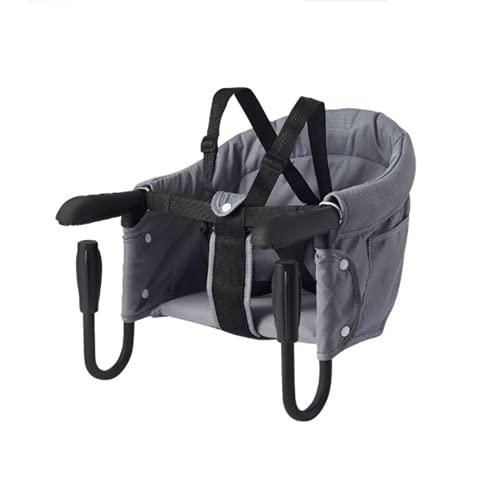 Trona plegable para bebé, portátil, compacta, plegable, con clip, gancho de almacenamiento...