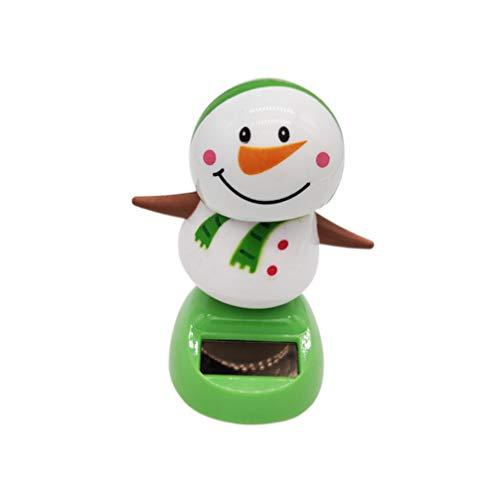 Amosfun Solar Dancing Toys Bobble Head Toy Christmas Santa Claus Snowman Dancing Figure Toy Car Dashboard Decorations Ornaments Christmas Party Supplies Favors