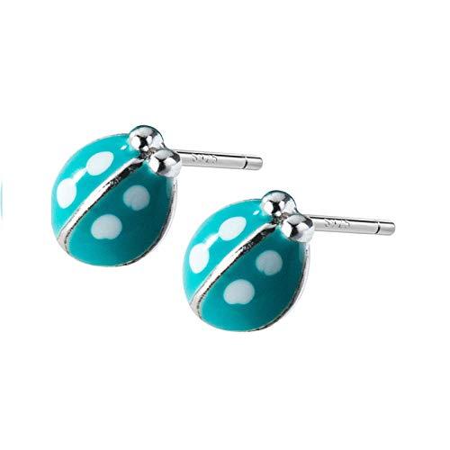Generic Brands Pendientes de plata de ley 925 esmaltados lindos pendientes de tuerca para mujeres de moda joyería fina accesorios de moda regalo
