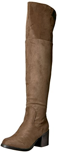 Brinley Co Women's SALL Over The Knee Boot, Taupe, 7 Regular US