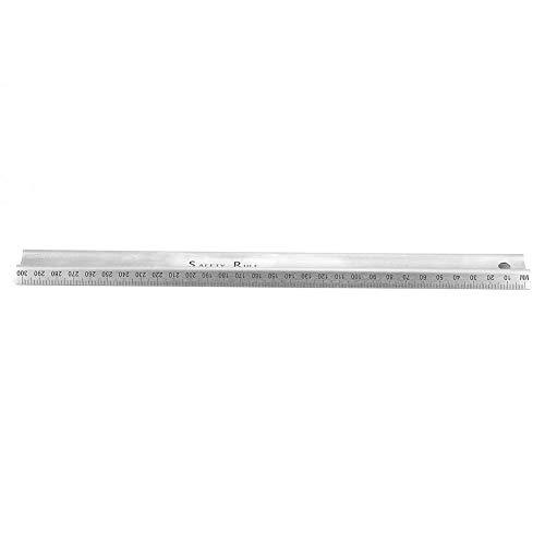 Edelstahl-Mittelrille M-Typ Schneidlineal Messgerät Tropfenfest für Papierleder(M Type 300mm)