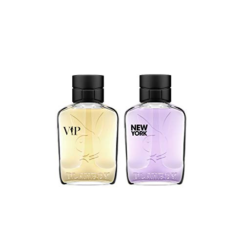 top 10 playboy vip cologne Two-piece gift set for men, eau de toilette, VIP New York Playboy OMNI