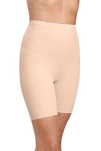 Kasheer Damen Miederhose mit Bein ShapePants Figurformender Shapewear Bauch-Weg Effekt für Bauch, Hüfte, Oberschenkel und Po (44/46, Haut)