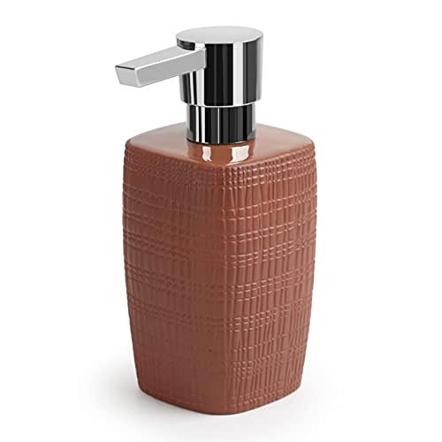 Soporte para jabón de manos y líquido para platos Ceramic Home Hotel Lotion Dispensing Bottle Botella de jabón Botella de botella Champú Dispensador de jabón Cabezal de bomba cromada Se puede rellenar
