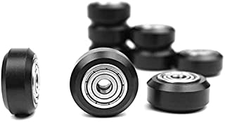 SNOWINSPRING 10 Pcs Plastic Wheel POM with Bearings Big Models Passive Round Wheel Idler Pulley Gear Perlin Wheel for CR10...
