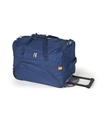 Gabol - Week | Bolso con Ruedas de Viaje Pequeño de Tela de 50 x 33 x 25 cm con Capacidad para 41 L de Color Azul