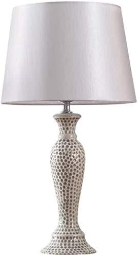 XFXDBT Lámpara de mesita de noche Gran lámpara de mesa de cerámica americana lámpara de noche lámpara de noche protección ojo blanco simple arte moderno escritorio lámpara cálido luz estudio americano