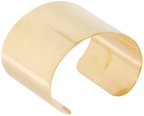Beadaholique 1 flaches Manschettenarmband aus massivem Messing, 50,8 mm