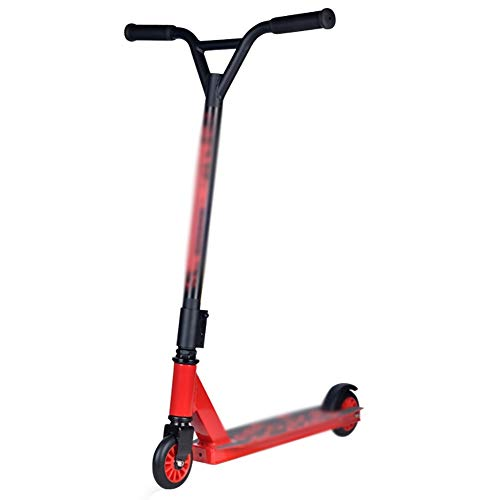 Ynes Pro Extreme Scooter, 2 Wheels Kick Scooter,Beginner Stunt Scooters, Best Gifts for Kids, Boys Girls (Color : Red)