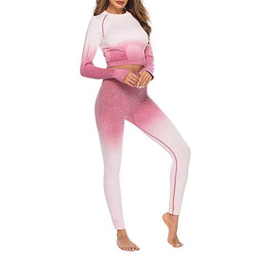 Damen Anzug Sport Yoga Training Hosen +Yoga Fitness Vest Damen Mädchen Casual Elegant Sexy Streetwear Sport Leggings Mode Sportbekleidung Sportanzug Yogaanzug Trainanzug URIBAKY