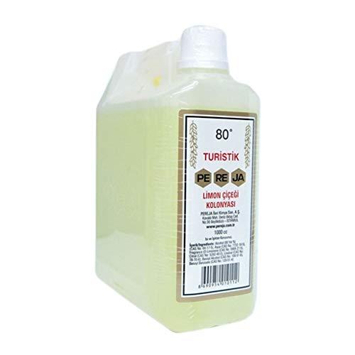 Pereja Kolonya Zitrone 1Liter Türkisches Duftwasser im Mini-Kanister | After Shave |Desinfizierend Rasierwasser | Kölnisch Wasser traditionell türkisch