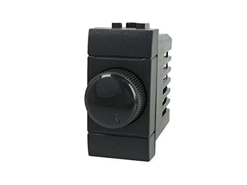 SANDASDON SD80034 Regolatore Dimmer A Manopola 220V Nero Compatibile Bticino Living