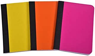 Pen + Gear Mini Pocket Size Fashion Composition Book Assorted Colors 80 Sheets 3Pk(pack of 4) Total 12