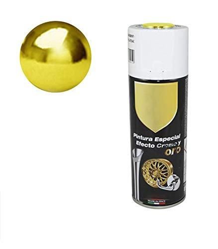Pintura Spray Especial Efecto Oro Cromado 400 Ml