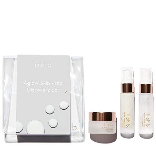 lilah b. - Natural Aglow Skin Prep Discovery Set   Limpio, Vegano, No Tóxico Maquillaje