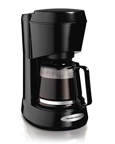 Hamilton Beach 5-Cup Switch Coffee Maker, Works with Smart Plugs, Black (48136)