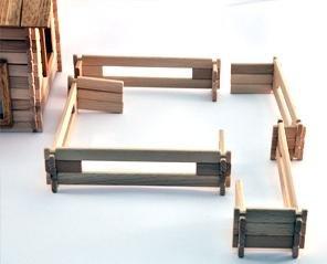 Timberfan Holz Zaun Abgrenzung für Haus Spielzeug Massiv Einzäunung Kinder Konstruktion Bausatz