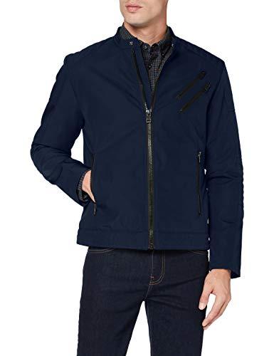 ESPRIT Herren 080EE2G305 Jacke, 405/DARK Blue, Medium