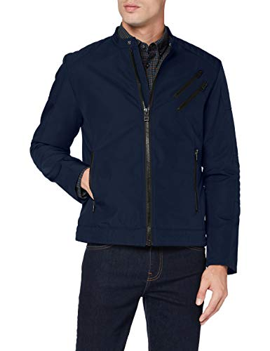 ESPRIT Herren 080EE2G305 Jacke, 405/DARK Blue, Medium