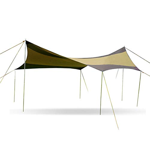 AIHOUSE Lona para Acampar, Material De Tela Oxford 210D Toldo Protector Solar A Prueba De Lluvia, para Senderismo, Nieve, Camping, Viajes, Playa