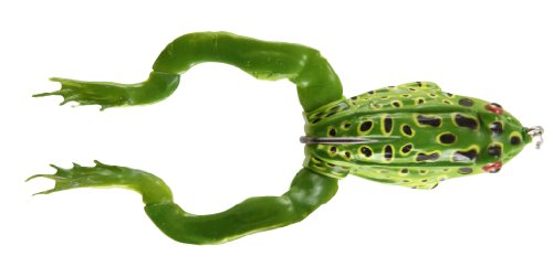 Savage Gear Hollow Frog Imitation Legs Floating Fishing Lure, 2 3/4-Inch/3/4-Ounce, Green Leopard...
