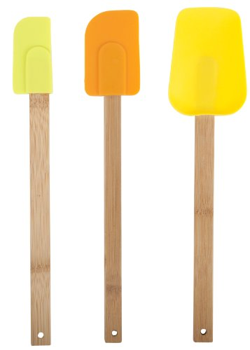 Core Bamboo Bamboo and Silicone 3-Piece Utensil Set, Paris