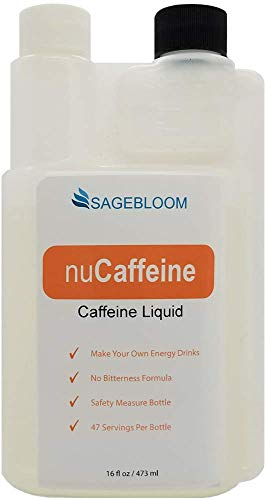 nuCaffeine   Unflavored   Caffeine Liquid 16 oz   Make Your own Energy Drinks   Bitterness Blocker   Zero Sugar   47 Servings per Bottle   Concentrate - Mix With Other Drinks or Water