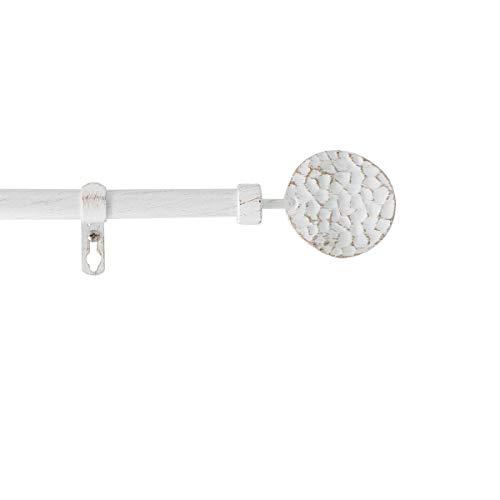 marque Douceur d'intérieur Kit Tringle Extensible 120 à 210 cm Patine Bullette Blanc/Or