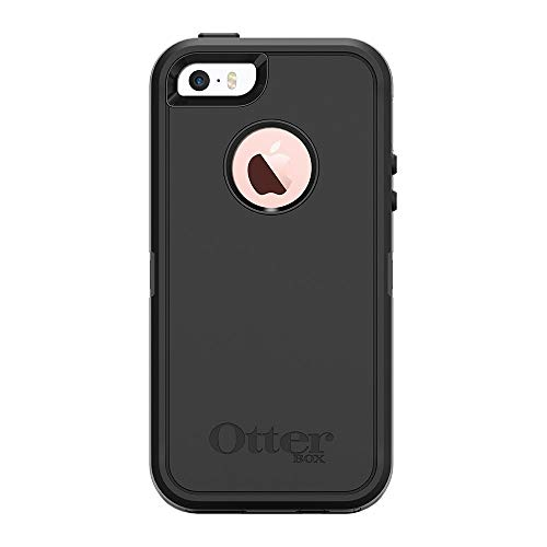 OtterBox DEFENDER SERIES Case for iPhone 5/5s/SE ONLY - Retail Packaging - BLACK
