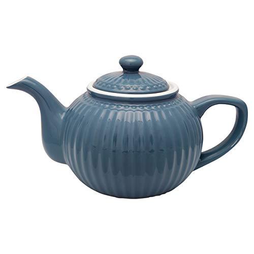 GreenGate - Teekanne - Alice - Porzellan - Ocean Blue - 1 l