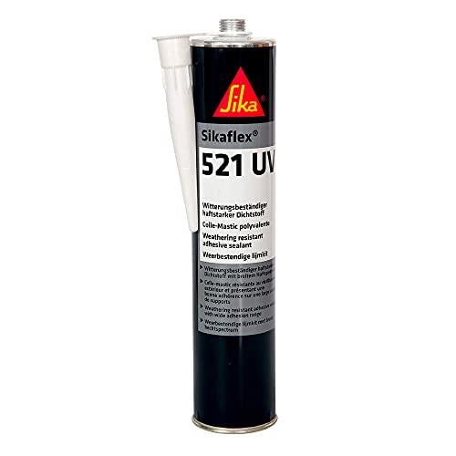 Sikaflex 521 UV, Blanco, Sellador multiusos poliuretano híbrido, Sellador adherente para sellados y...