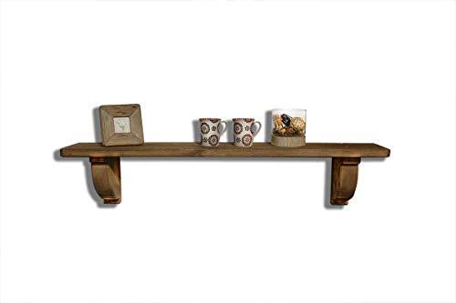 Meubletmoi wandplank, van gerecycled hout, 120 cm, rustieke decoratie, collectie Chalet