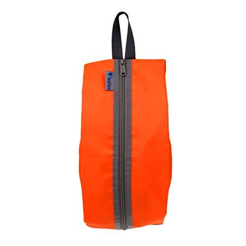 SM SunniMix Waterproof Shoe Bag Shoe Bag with Carrying Handle Travel Luggage Organizer Set, Great for Travel, Outdoor Sport (Shoe Bag) - Orange, as described