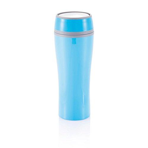 XDDesign XDP432225 Mug Isotherme à Bouton Poussoir Bleu