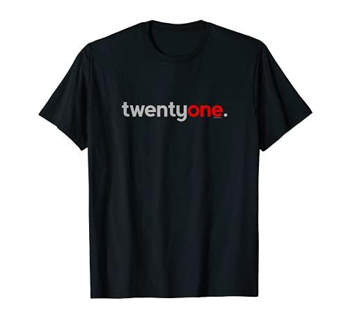 21st Birthday Gift Ideas for Him Men T Shirt Red Twentyone