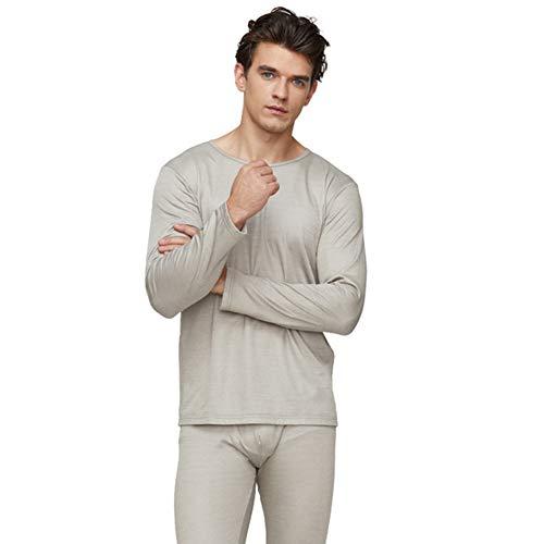 EMF-afscherming Elektromagnetische straling voor heren Beschermend 100% zilvervezel Lang ondergoed Huishoudelijke vrijetijdskleding,Underwear,M