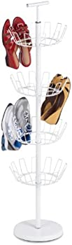 Honey-Can-Do SHO-01197 4-Tier Shoe Tree with Spinning Handle