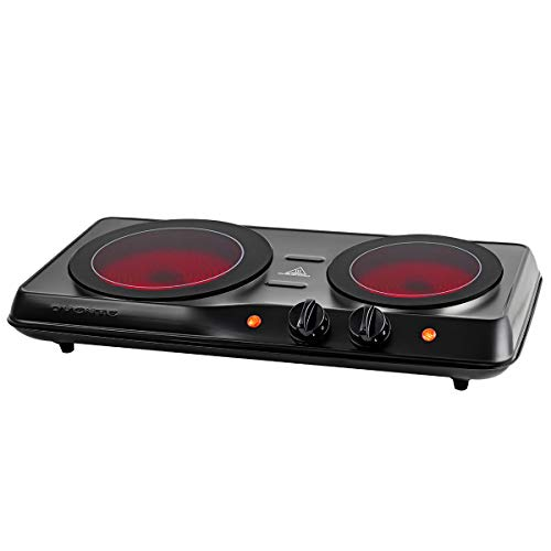 Ovente 1700W Double Hot Plate Electric Countertop Infrared Stove 6.5