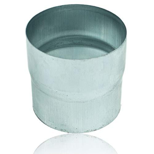 Zink Ablaufrohrverbinder 100 mm für Fallrohre mit gleichem Durchmesser, Titanzink Ablaufrohr Fallrohrverbinder DN 100