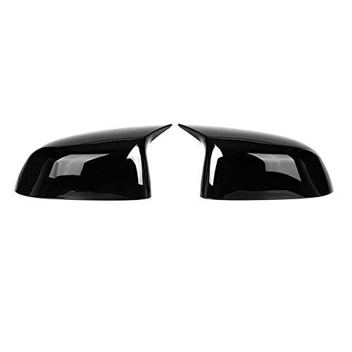 SXGKYY Tapa Blanco/Negro ABS Espejo Retrovisor En Forma Fit For BMW X3 X4 G01 G02 G05 X7 X5 G07 2019-2020 Piezas De Automóvil (Color : Black)