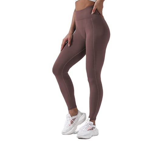 QTJY Pantalones de Yoga para Correr, Transpirables, súper elásticos, Deportes sin Costuras, Leggings de Fitness para Mujeres, Pantalones Deportivos al Aire Libre de Secado rápido CM